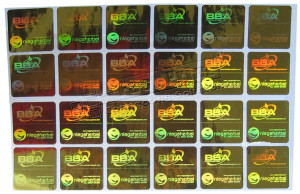 Stiker Hologram GOLD